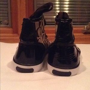 Coach Shoes - Coach Hightop Brown Sneakers